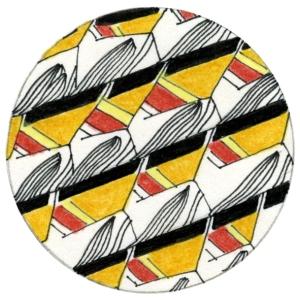 13;dessin au kaléidoscope;crayon de couleur sur papier;6x6cm;2012
